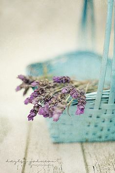 lavendar and basket